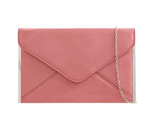 Haute für Diva Damen Metallic Seitenverkleidung Unterarmtasche - Blüte Rosa, Medium
