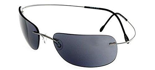 Preisvergleich Produktbild Silhouette - 8562, Rechteckig, allgemein, Herrenbrillen, RUTHENIUM/BLUE GREY(6076)