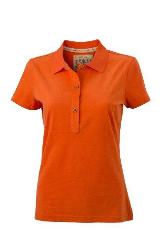 James & Nicholson - Polo Ladies' Vintage, Polo Donna Arancione (dark-orange)