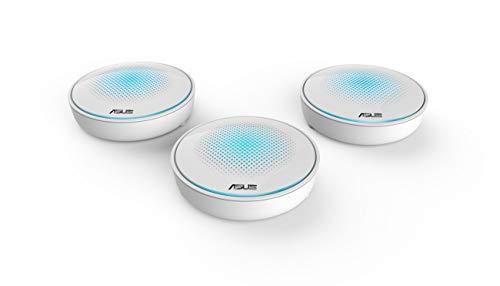 ASUS Lyra - Kit de 3 Sistemas Wi-Fi Mesh Tri-Banda AC2200 Gigabit (Triple VLAN, App de Gestión) Color Blanco