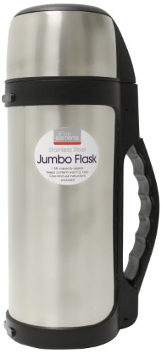 Fine Elements Jumbo Thermos a pressione 1,5 litri set in acciaio inossidabile...