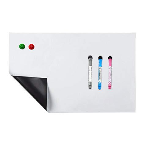1pc Magnetic White Board Aufkleber Dry löschbare Boards Wandtattoo Easty abzuschälen Whiteboard für Fridge Home and Office (Dry Erase-kalender Aufkleber)