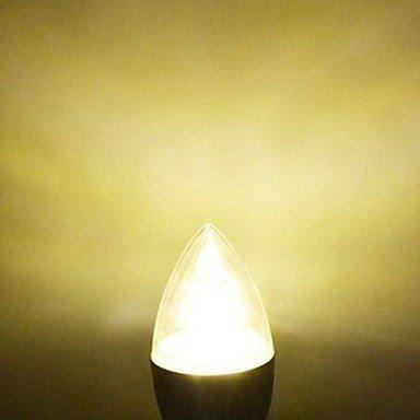 FDH 1pcs E14 12W LED de alta potencia 120LM 2800-3500K Lámparas de Vela blanca cálida AC 85-220V