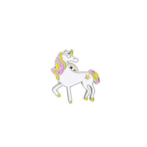 CAOLATOR Tiere Kinder Brooch Damen Brosche Metall Einhorn Broschen Frauen Nadel Anstecker Anstecknadeln Niedlich Schmuck für Kleidung/Schals/Tücher/Ponchos (Stil-1)