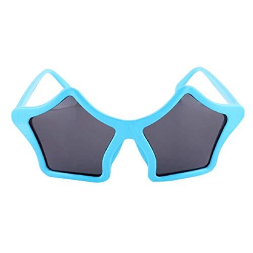 (BESTOYARD Stern Sonnenbrille Kinder Kostüm Sonnenbrille Spaßbrille Party Favors (Blau))