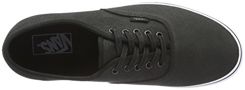 Vans Authentic, Sneakers Basses Mixte Adulte Noir (Premium Leather)