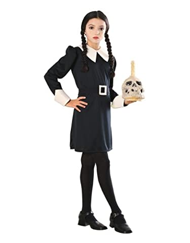 "Addams Family Costume, Kids Wednesday Outfit, Medium, Age 5 - 7, HEIGHT 4' 2"" - 4' 6"""
