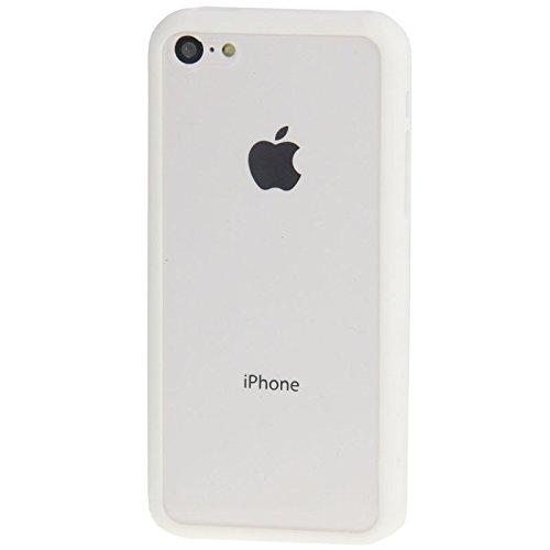 Wkae Case Cover Transparente Plastik + TPU Rahmen für das iPhone 5C ( Color : Blue ) White