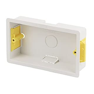 Appleby Plastic Double Dry Lining Plasterboard Wall Box 35mm (Color May Vary)