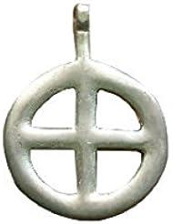 Colgante Celta con Cruz, Colgantes en bronce antiguo, Adornos medievales, Colgantes medievales