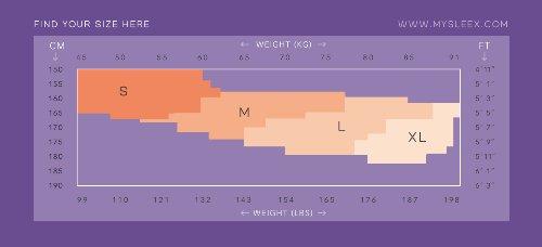 Sleex Figurformende Strumpfhose - 70 DEN Mikrofaser, blickdicht, matt Finish Anthrazit Grau (Charcoal grey)