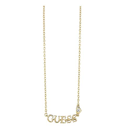 Guess lovin'guess-collana con ciondolo a forma di cuore, motivo: logo oro & ubn61087