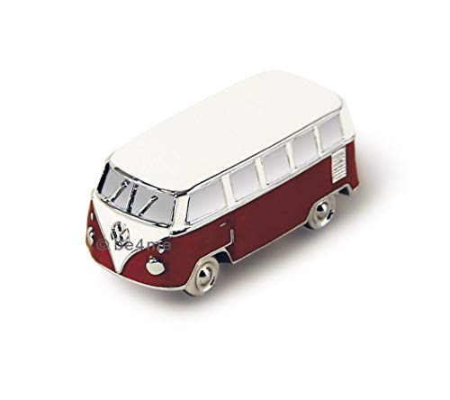 VW Collection by BRISA VW T1 Bus 3D Mini Modell mit Magnet in Geschenkdose - Rot