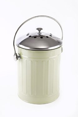 Eddingtons-Secchio per Compost Deluxe-4,4litri con filtro a carbone green