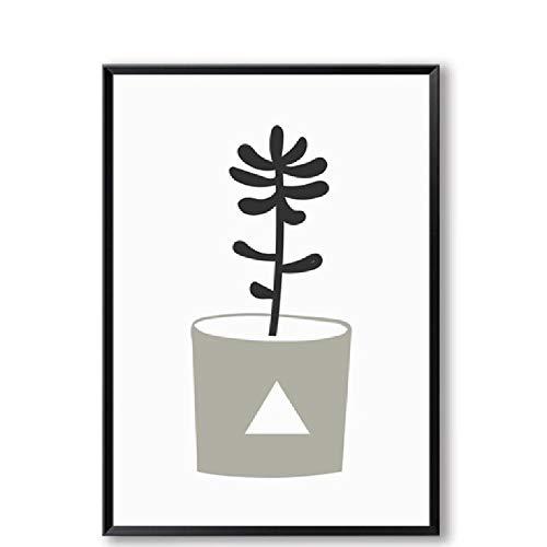 SCLPOSTER Poster topfpflanzen D leinwand Kunst Wohnzimmer Dekoration Cafe Druck Klassische malerei wandbild für Wohnzimmer Hause Bild Liebhaber Geschenk -