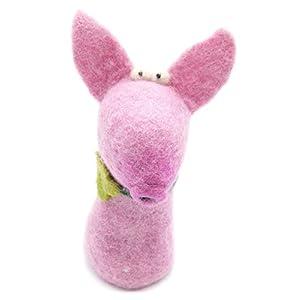 Filztier Tier-Eierwärmer Schwein Glücksschwein aus Filz Handarbeit Ostern gefilzte Tierfigur