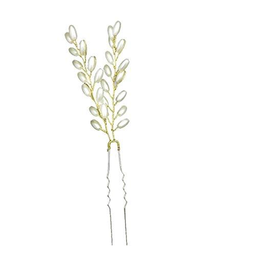 Epingle à Cheveux Perles Synthétiques Pique à Cheveux Pour Mariée