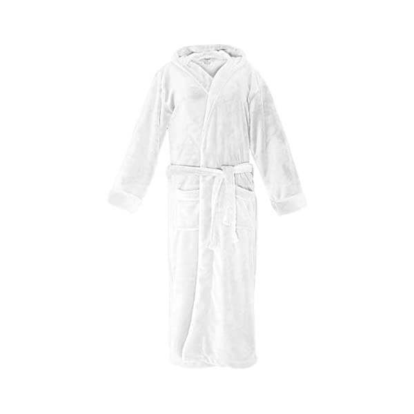 Lumaland Peignoir De Luxe Robe De Chambre En Microfibre Avec Capuche Et Poches Pour Femme Et Homme Differentes Tailles Roman La Veille Du Net