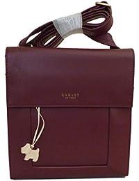64e9d86357f RADLEY  Border  Small Medium Burgundy Port Leather Across Body Bag - RRP