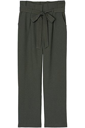 FIND Damen Paperbag Hose , Grün (Khaki), 38 (Herstellergröße: Medium)