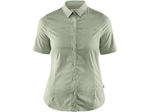 Ss-stretch-shirt (FJALLRAVEN Damen High Coast Stretch Shirt Ss W Hemd, Salbeigrün, S)