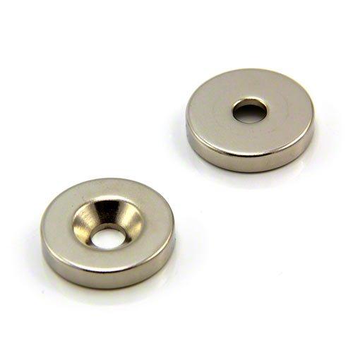 Magnet Expert® 25mm diamètre x 5mm x 6,0mm fraiser néodyme aimant, 11,2kg force d'adhérence, Sud, pack de 1