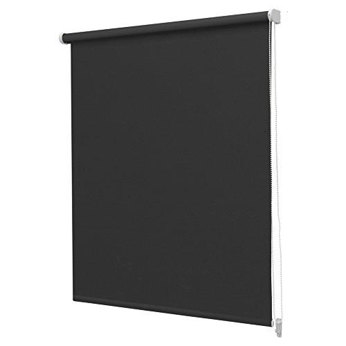 Intensions Estor Enrollable, Liso, Opaco, Color Negro, poliéster, Negro, 120x190cm