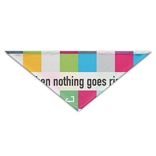 dfegyfr When Nothing Goes Right Go Left-01 Triangle Pet Scarf Dog Bandana Pet Collars for Dog Cat - Birthday Bandana Bibs Triangle Head Scarfs Accessories