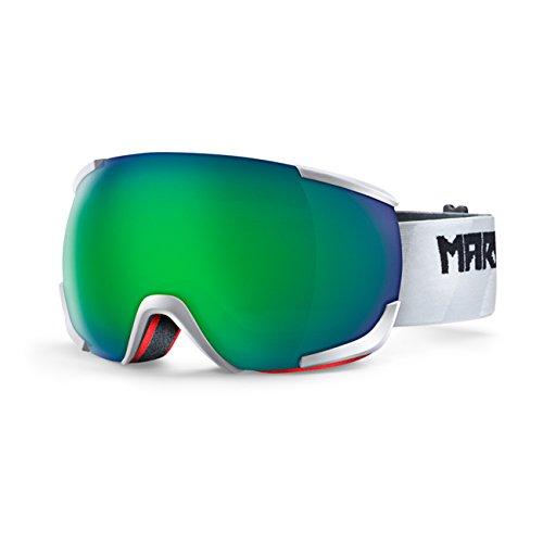 Uomo neve occhiali Marker 16: 10+ Otis White Goggle, green plasma mirror, Taglia unica