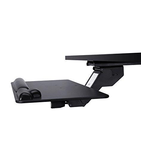 Ergonomische und verstellbare Tastatur Tablett, unter Schreibtisch Schublade, schwarz.