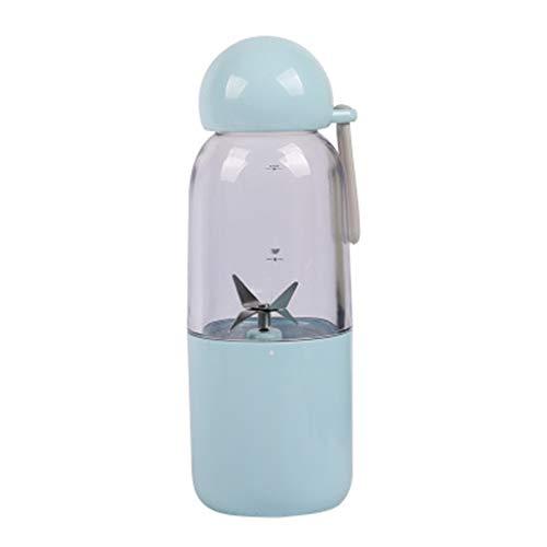 Portable Juicer, Mini Juice Juice Cup Elektromixer Outdoor Sports Bester Freund Gesunder Lebensstil Abnehmbar,Blau