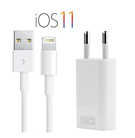 OKCS Ladeset - USB Ladekabel 1M + 1A Netzteil für