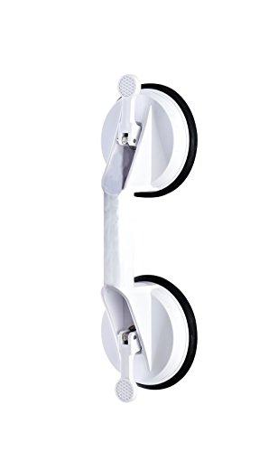RIDDER Assistent  A0150201 Sauggriff, Haltegriff, Wannengriff mit Saugnapf, ca. 32 cm, weiß -