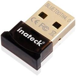 [Nuove]Inateck® Bluetooth 4.0 Mini USB Adapter con LED | supporto Stereo | alta intensità di segnale | Wireless Dongle USB 2.0 3.0 V 4.0 10M Range, compatible with Windows XP/Vista/7/8, and Adattore USB Bluetooth 2.1 + EDR