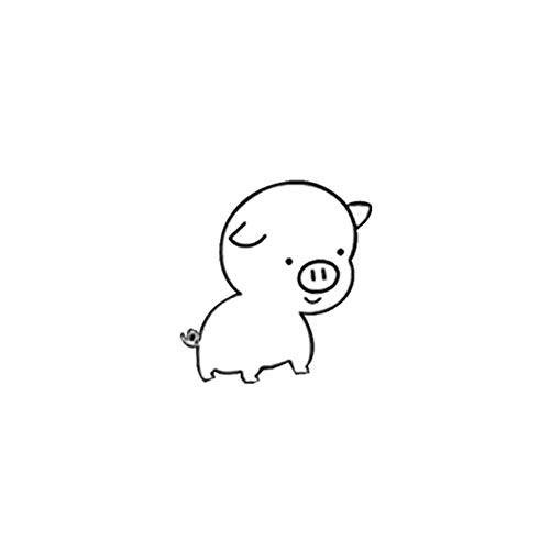 Wand-Aufkleber Cute Pig Wagen-Muster-Vinylwand-Abziehbild-Aufkleber Hintergrund-Dekoration Wandaufkleber Peel and Stick entfernbare Wand-Aufkleber für Schlafzimmer Wohnzimmer (Merchandise Pig)
