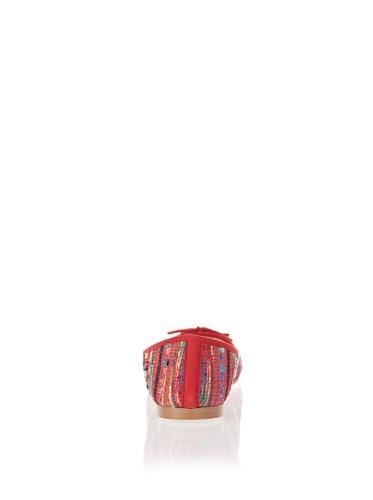 Jonny's Vegan Damen Schuhe Ballerina Peruvian Stone AK1414 rot (red) (43) - 2