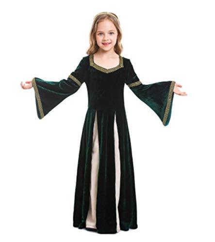 Fanessy. Kinder Mädchen Damen Renaissance Mittelalter Kleid Große Größen Vampir kostüm Viktorianischen Königin Kostüm Erwachsene Kinder Verkleidung Cosplay Dress für Fasching Halloween Karneval - Viktorianische Vampirin Kostüm Kind