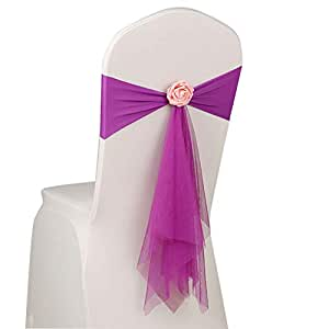 Stuhlschleifen Schleifenbänder Schleifenband Stuhlhussen Deko Hochzeit Fest Pink