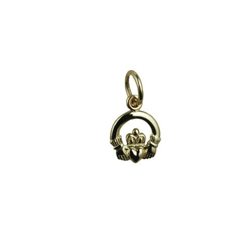 9ct-in-oro-bianco-375-1000-con-pendente-8-x-6-mm-claddagh