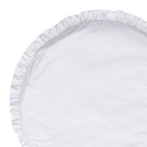 Weiche Spielmatte Kinderteppich gepolstert Farbe Rüschen Rand Plüsch Kissen (Baby Spielmatte Plüsch)
