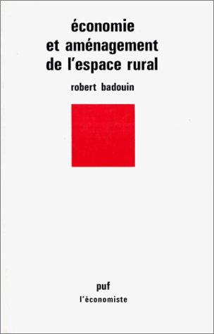 Economie et Amnagement de l'espace rural