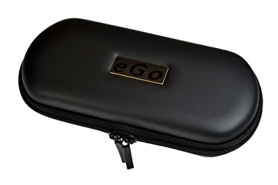 eGo Electronic Cigarette Rigid Zipper Case in Black -Large by eGo
