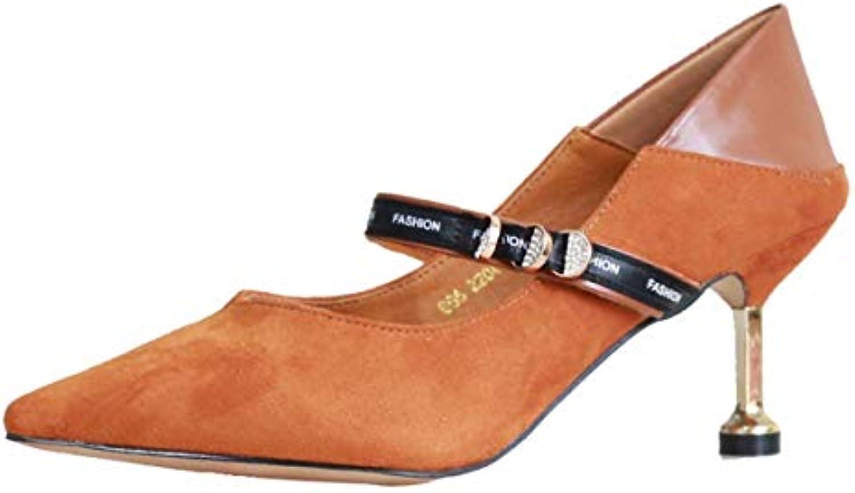 KPHY Chaussures Femmes/L'Automne Femmes/L'Automne Chaussures De 6 Cm De Talon Talon A Indiqué Les Femmes Minces Les Chaussures en Daim La...B07GXXX8KFParent b6c21a