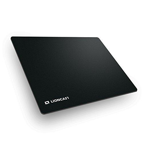 Lioncast Buff Gaming Mauspad/Gamer Mauspad (400mm x 300mm, Stoff) schwarz/Black - perfekte Gaming Performance und ultimativer Grip auf jeder Fläche