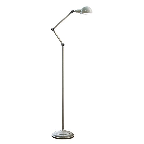 MEHE@ mode personnalité créatif Lampadaire étude salle de lecture salon chambre à coucher Lampe verticale verticale de style européen Lampadaires (Couleur : Blanc)