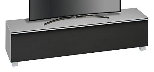 MAJA Möbel SOUNDCONCEPT Glass 7738 Soundboard Glas marmorgrau matt - Akustikstoff schwarz, Abmessungen (BxHxT):180,20 x 43,30 x 42 cm, 20 x 42 x 43,30 cm