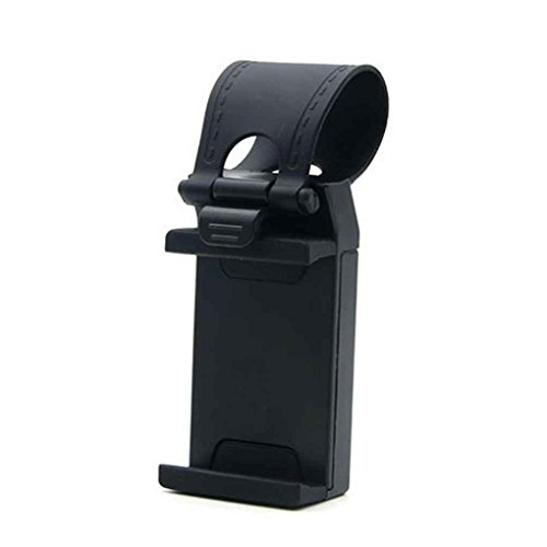 Plzlm Auto-Lenkrad-Telefon-Clip Halterung Halter Universalfahrrad Auto-Kamera GPS-Standplatz-Halter für iPhone Samsung