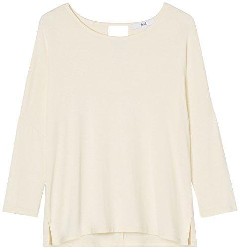 FIND Damen Langarmshirt Keyhole Back Elfenbein (Cream)