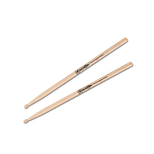 Drum Stick, 5A / 7A / 2B / 5B Drum Stick in legno di noce, Drum Drum Drum Wood Solid Drumstick (Color : Wood color-5B)