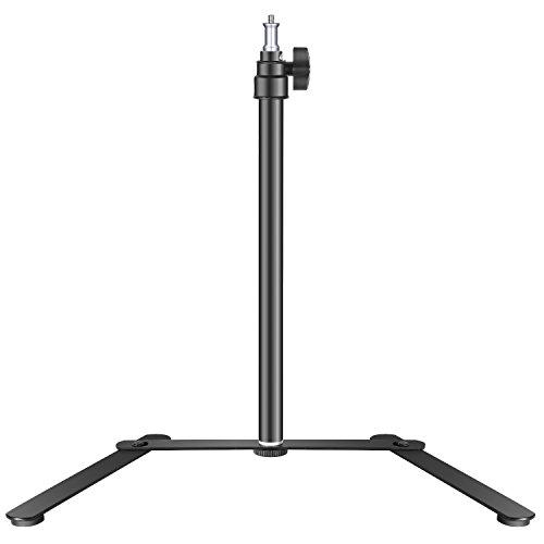 Neewer Base Stand da Tavolo per Pannello Luce LED & Luce Anulare, Staffa di Supporto 39-68,5cm Regolabile per Truccatura, Selfie, Spettacoli in Diretta, Ritratti, Foto Video su YouTube, in Lega di Alluminio